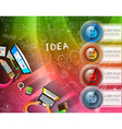 Infographic layout template with 4 choices and vector image vector image