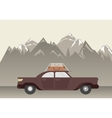 Landscape with Car in Mountain vector image