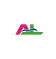 Letter a and L logo vector image vector image