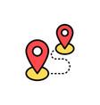 location pins flat icon sign symbol vector image vector image