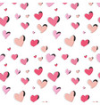 love heart pattern in pink color romantic vector image
