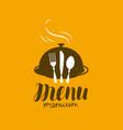 menu logo diner restaurant cooking symbol vector image vector image