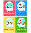 merry christmas and happy new year greeting cards vector image vector image