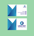 nice blue business card vector image vector image