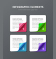 numbered infographic elements vector image vector image