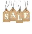 Old Paper Sale Tags vector image vector image