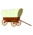 old retro cart on white background vector image vector image