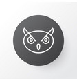 owl icon symbol premium quality isolated night vector image vector image
