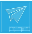 Paper airplane sign White section of icon on vector image vector image