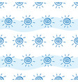 pattern drawing sun on white and blue striped vector image vector image