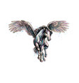 pegasus mythical winged horse from splash of vector image vector image