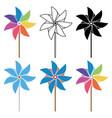 pinwheel set vector image vector image