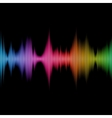 Rainbow Sound Equalizer Colorful Musical Bar on vector image
