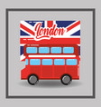 red london double decker bus flag public transport vector image vector image