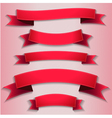 red ribbons flags vector image vector image