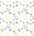 rubber duck seamless contour pattern for design vector image