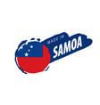 samoa flag on a white vector image vector image