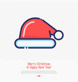 santa hat thin line icon vector image vector image