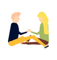scene with adorable romantic couple vector image