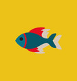 sea fish in sticker style vector image vector image