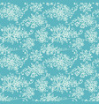 seamless pattern with hand drawn leaves vector image