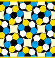 seamless repeating football soccer pattern vector image vector image