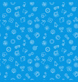 startup blue seamless pattern business vector image