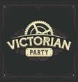 steampunk logotype design victorian cogwheels vector image vector image