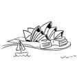 sydney opera house sketch vector image