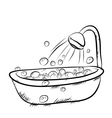 take a bath VS vector image vector image