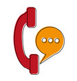 telephone landline icon imag vector image vector image