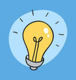 the idea bulb icon unexpected idea sign and vector image