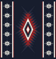 tribal kilim abstract geometric ornament ethnic vector image vector image
