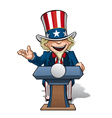 Uncle Sam Presidential Podium Open vector image vector image
