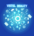 virtual reality banner modern visual technology vector image
