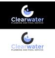 water plumbing service logo vector image