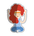 woman relax meditation icon vector image vector image