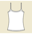Woman singlet template vector image vector image
