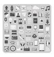 flat icons cloud computing technology set vector image