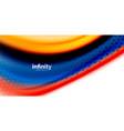 3d fluid colors wave background flowing vector image vector image