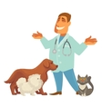 a veterinarian with cute vector image