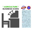 accounting office icon with agriculture set vector image