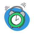 alarm clock ringing wake up morning time vector image