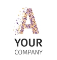 alphabet particles logotype letter-a vector image