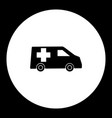 ambulance car transport simple black and green vector image vector image