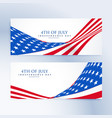american independence day 4th july banners vector image vector image