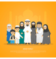 Arab Family Poster vector image