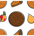 armenian food bread loaf fruit and roll lavash or vector image vector image