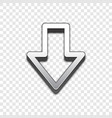 arrow 3d icon raised symbol vector image