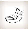 Banana in the Contours vector image vector image